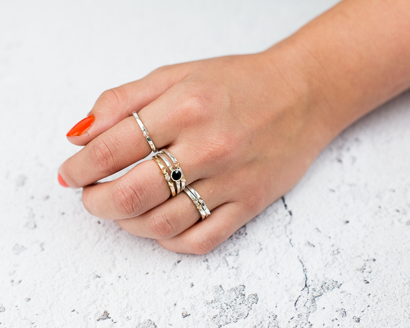 Rings on a models hand for EVR.Made